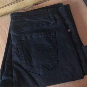 Buffalo mid rise straight leg raw edge jeans 10/30